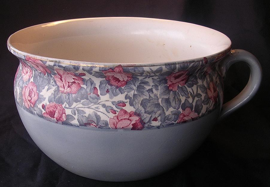 Old English Floral Potty Or Chamber Pot From Molotov On