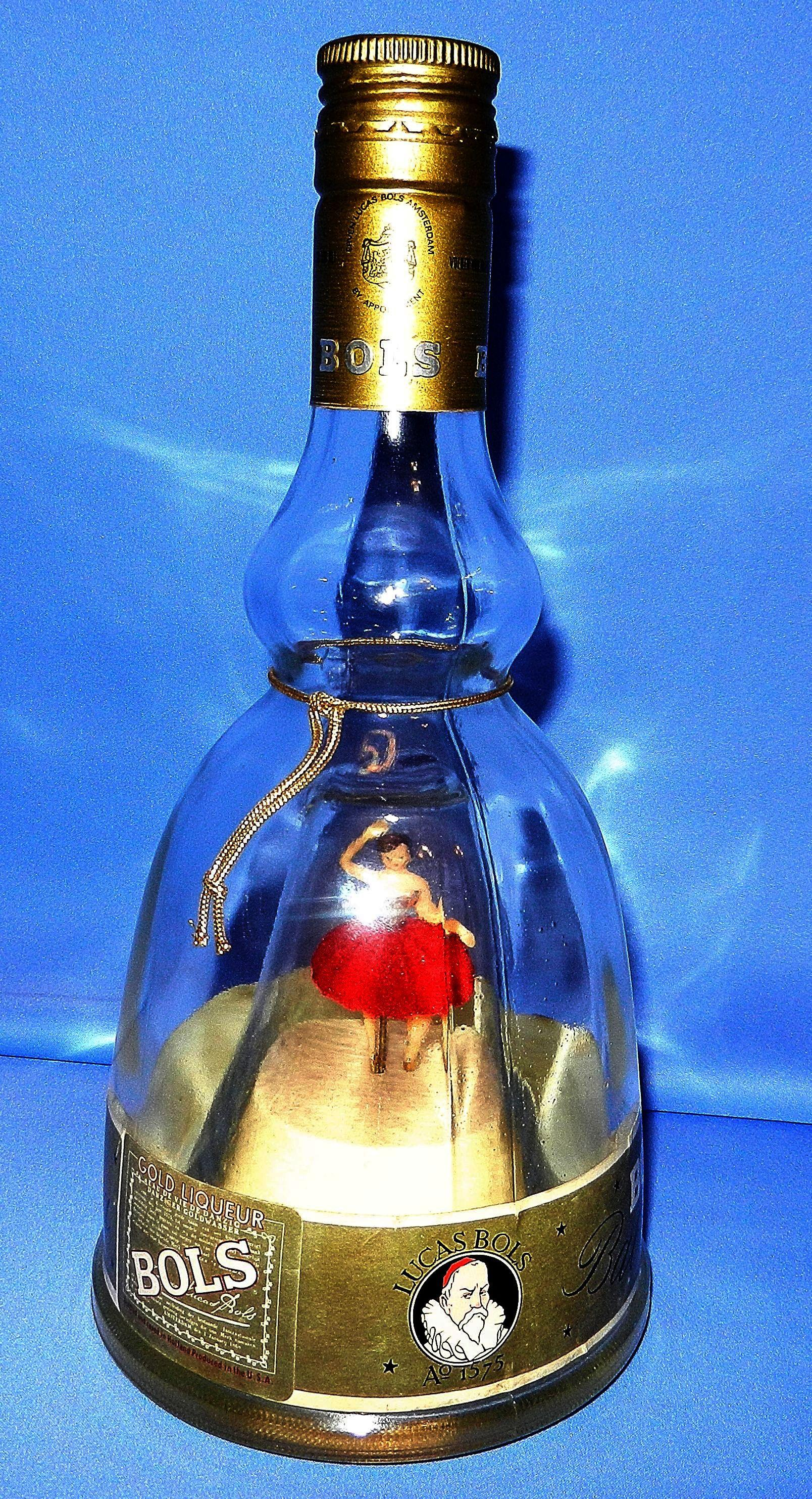 Vintage Bols Ballerina Music Box Liquor Bottle From