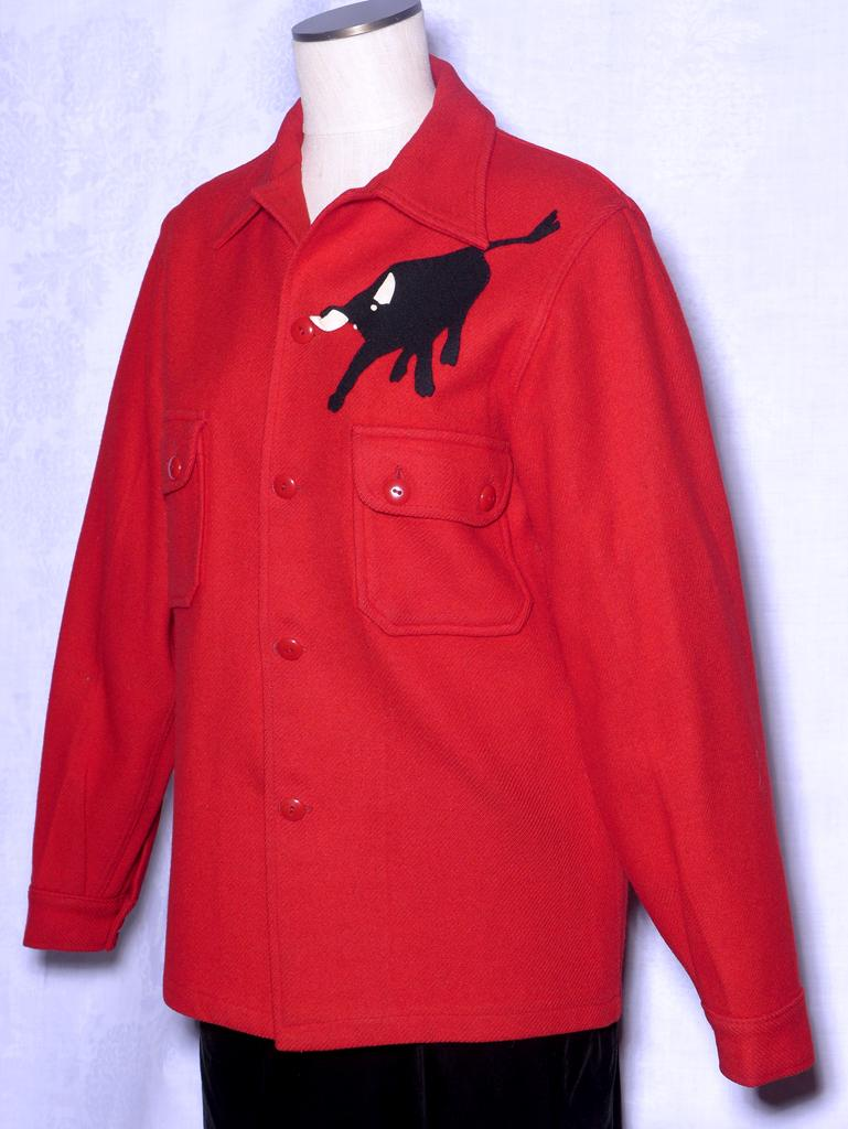Vintage 1960s Boy Scout Red Wool Jacket Shirt With