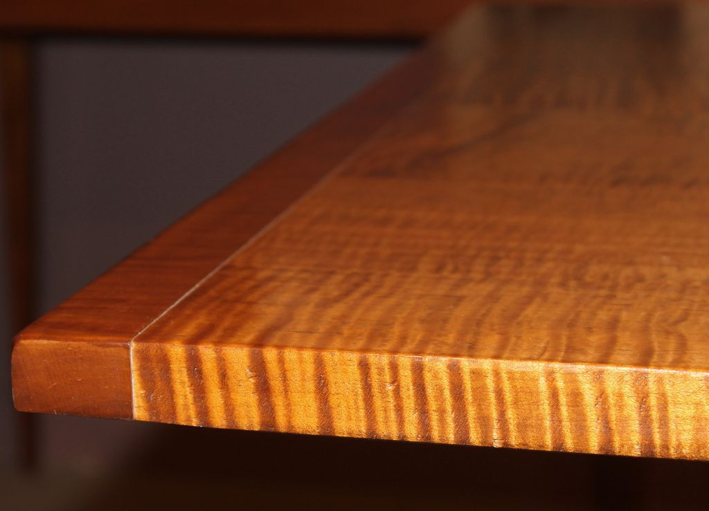 Jason Samuel Bench Made Tiger Maple Dining Table In The