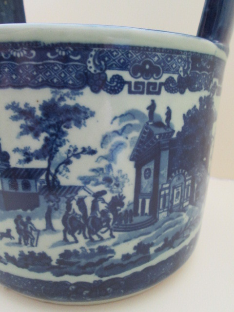 English Ironstone Blue And White Scenic Planter With Handle From Rlreproshop On Ruby Lane