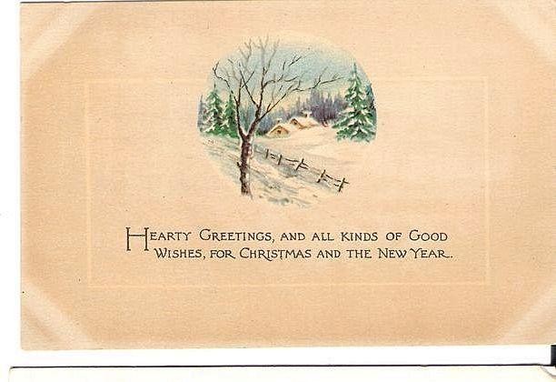 1918 Christmas Amp New Year Post Card Gibson Art Co Snowy