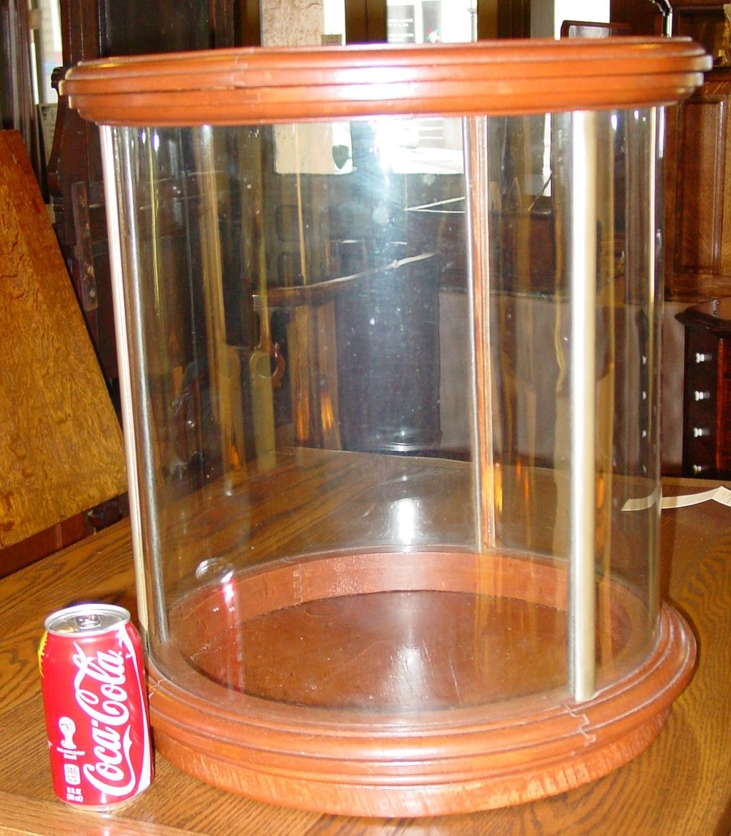 Unusual Round Table Top Counter Top Display Case From