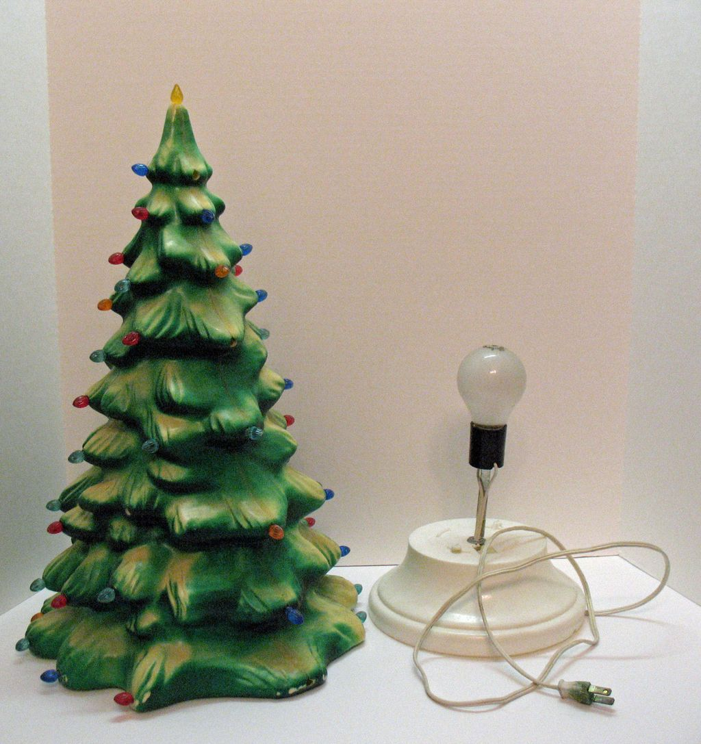 Vintage Celluloid Light Up Christmas Tree Plastic Inserts