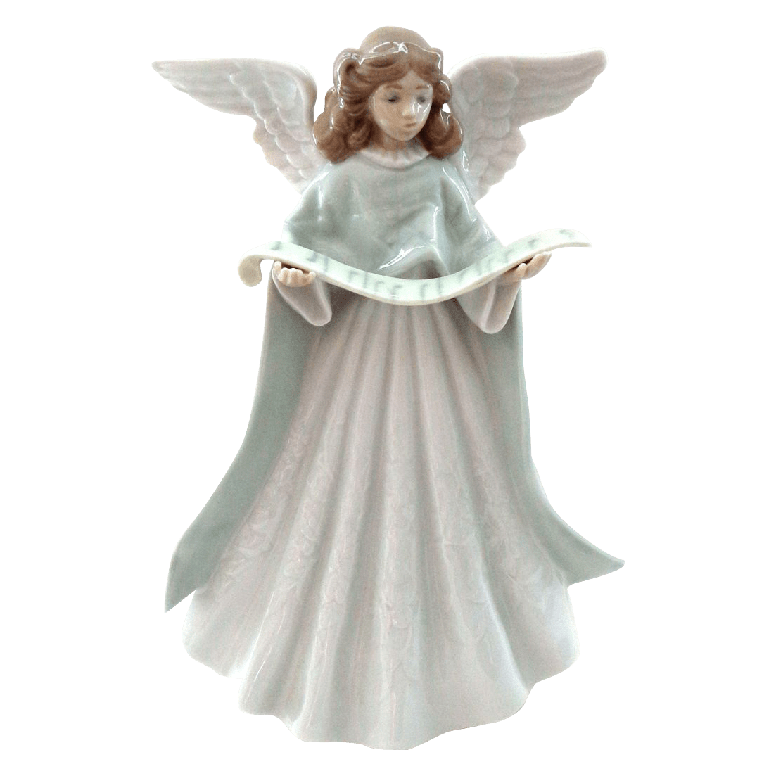 Lladro Angel Tree Topper With Scroll Of Music That Was