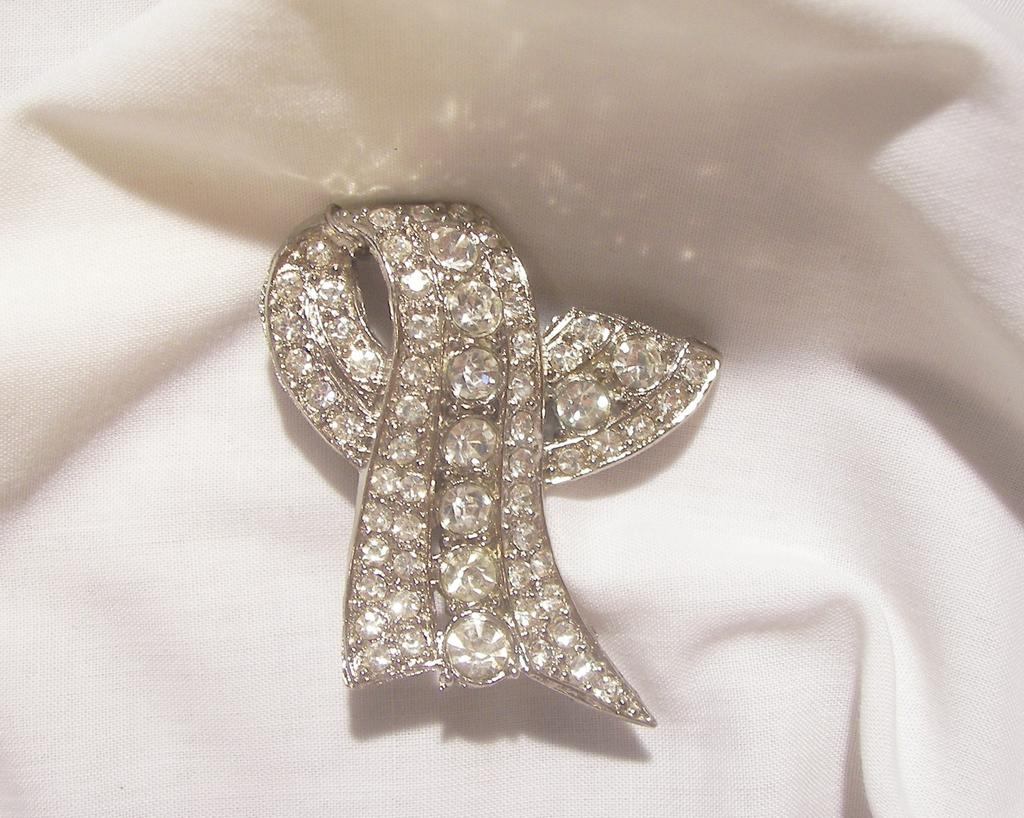Amazing Art Deco Rhinestone Brooch Stone Intense Lovely