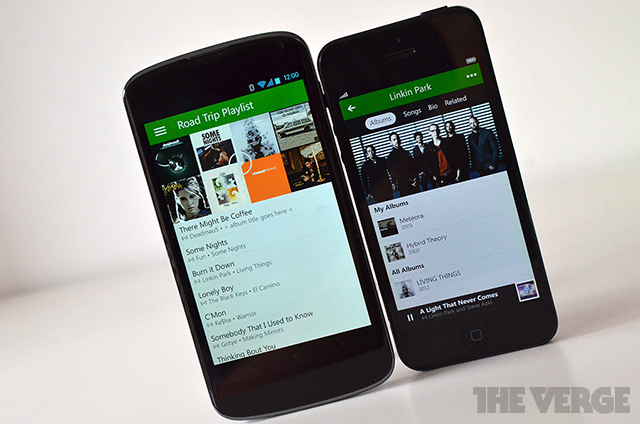 Xbox Music Android iOS