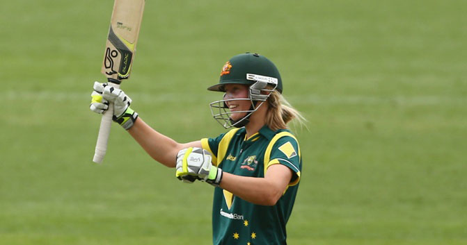 Meg Lanning. Photo via Cricket Australia