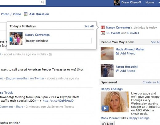 Facebook Makes It Even Easier To Wish Someone A Happy Birthday The Next Web