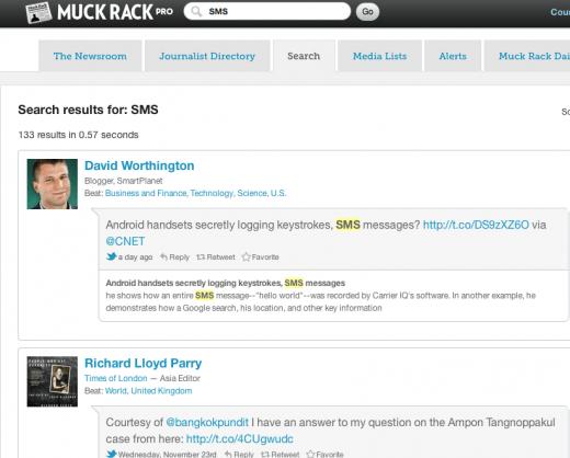 muck rack tracks what journalists