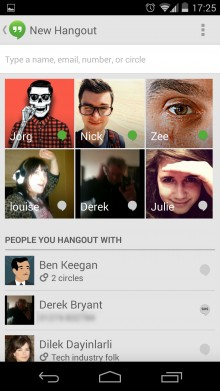 Hangouts app 220x391 Nexus 5 review: Finally, a near perfect fusion of Android hardware and software