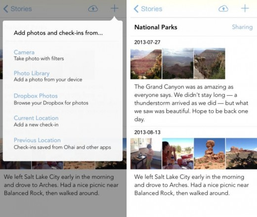 sunlitx1 520x438 Sunlit for iOS is a neat journaling app that lets you easily curate and share photo stories