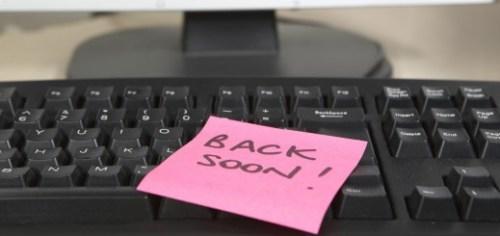 be back soon post it