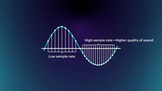 4 low sample rate high sampling rate