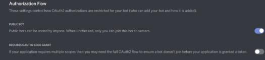 Discord authorization flow