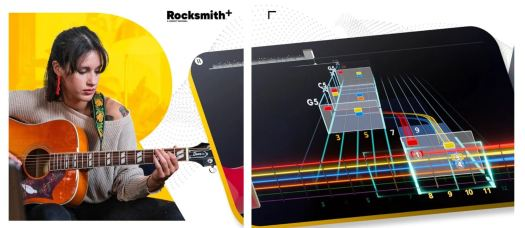 A screen capture of the Rocksmith app.