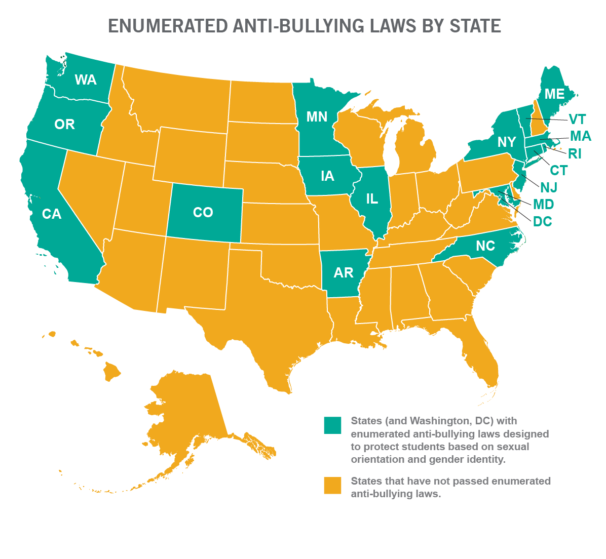 33 States Don T Protect Lgbt Students In Anti Bullying