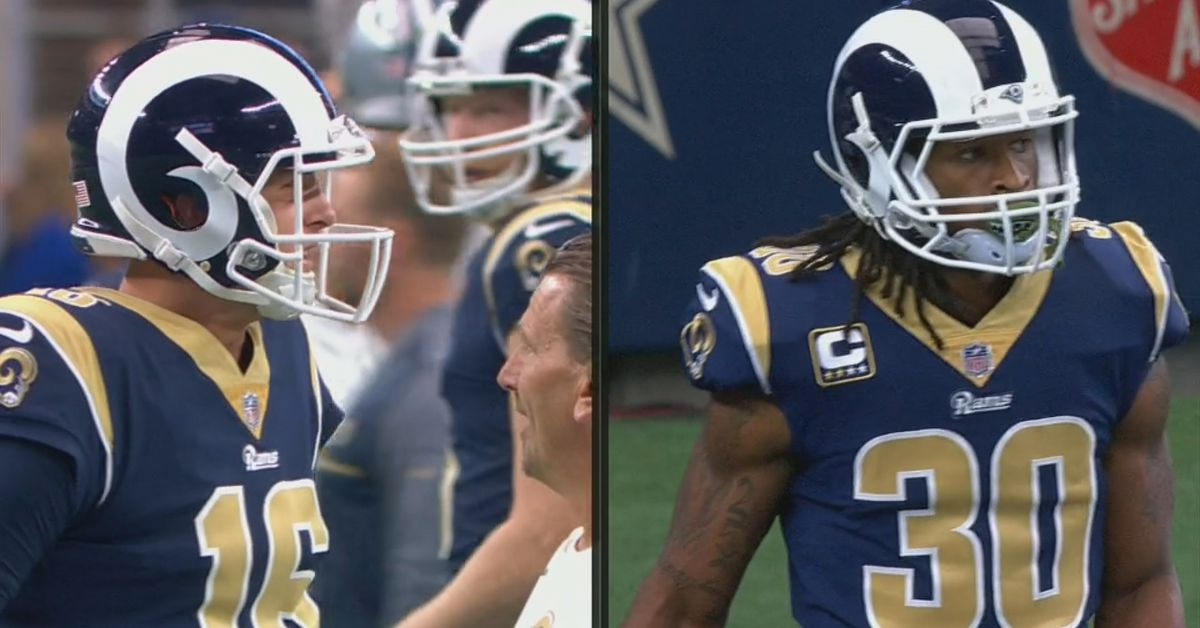 The Rams Uniforms Are So Mismatched Its Like Their