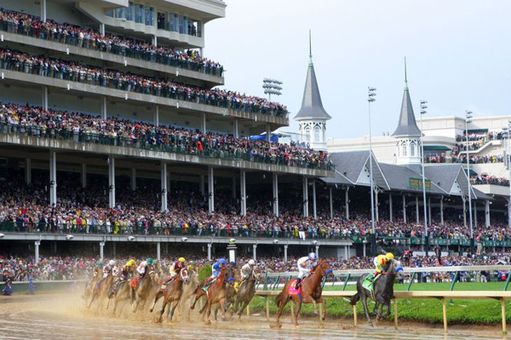 Louisville Ky May 01 Jockey Martin Garcia Atop