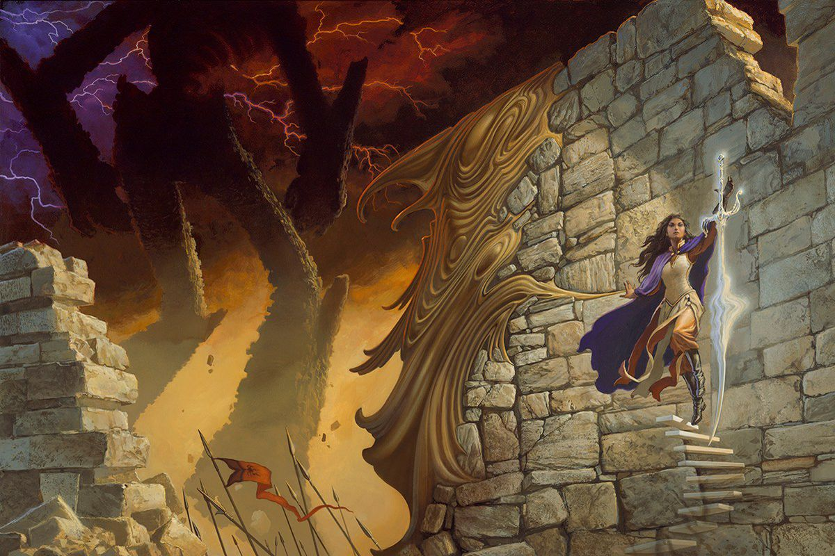 Look What Goes Into Making A Michael Whelan Book Cover
