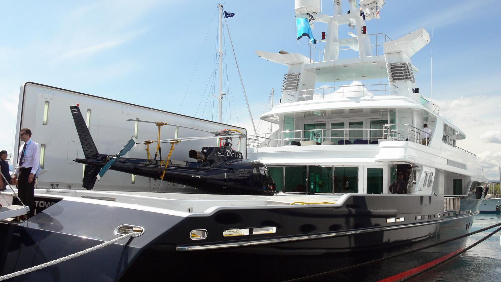 This Yacht Docked In Miami Can Refuel A Helicopter At Sea Curbed Miami