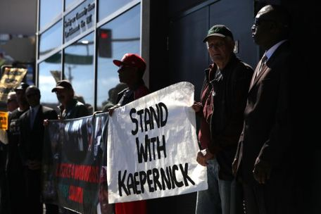 Supporters Of QB Colin Kaepernick Hold News Conference In San Francisco