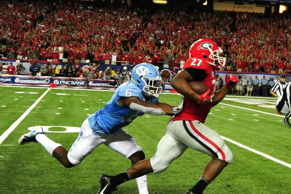 Image result for nick chubb vertical
