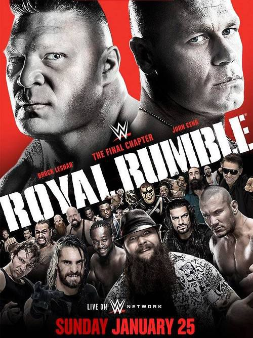 WWE Royal Rumble 2015 poster - Cageside Seats