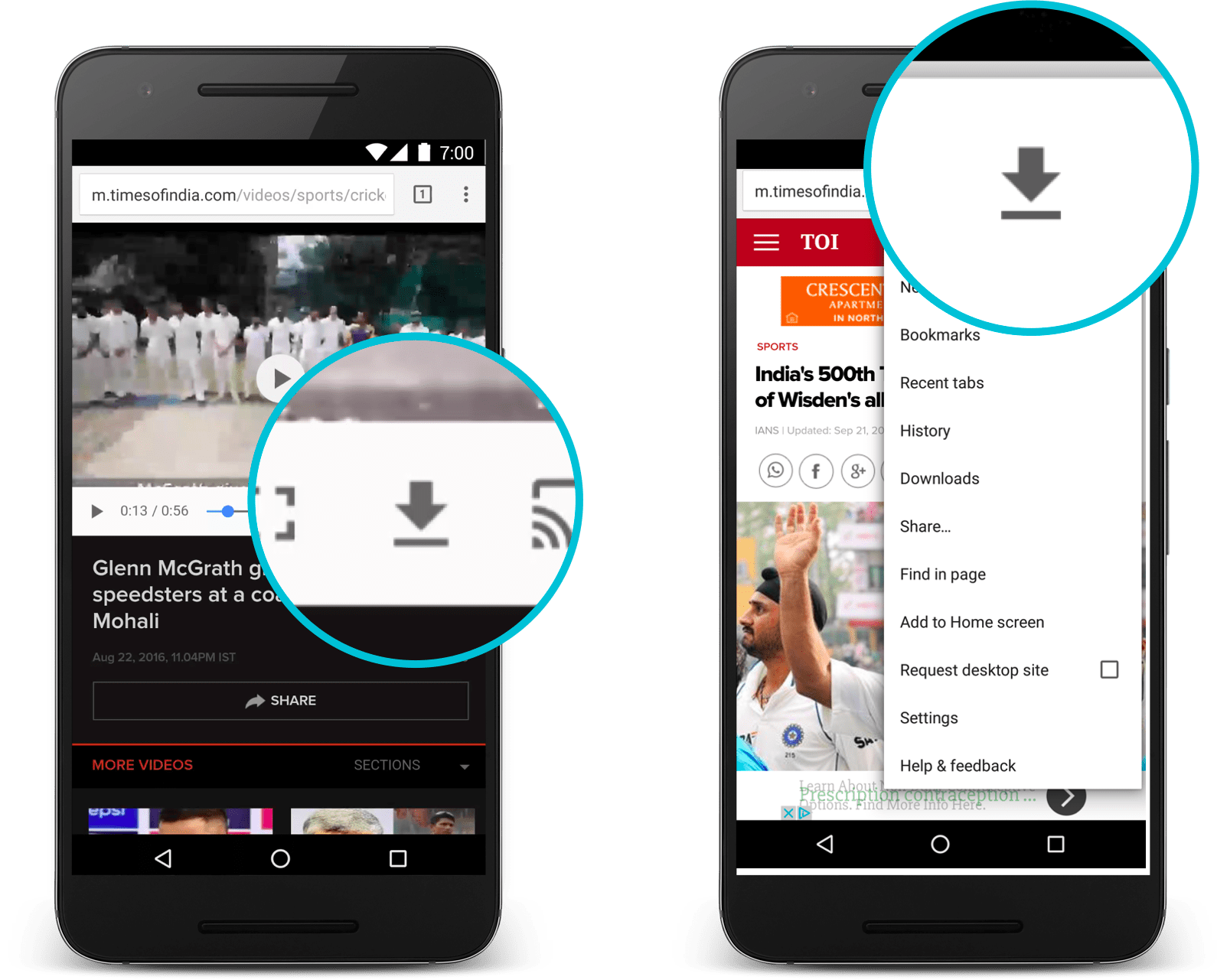 chrome for android will let you download entire web pages and use