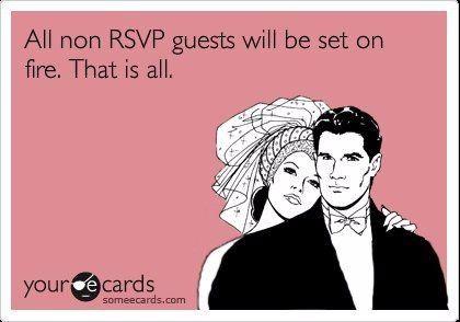 Lamest Rsvp Excuses Weddingwire Forum Weddingwire Ca
