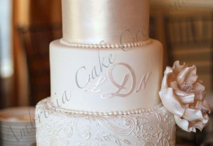 Ambrosia Cake Creations Wedding Cake Fuquay Varina Nc Weddingwire