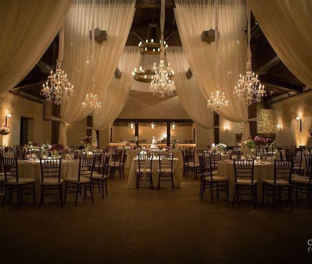 Couples Kiss Wedding Reception Area