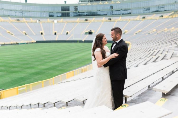 sports stadium wedding venue, Happily Ever Borrowed