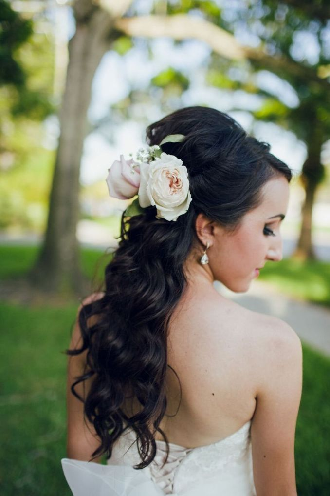 our 16 favorite wedding hairstyles with flowers - weddingwire
