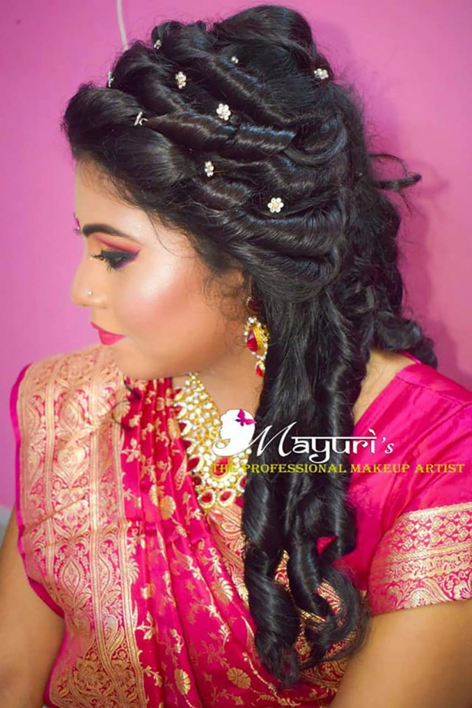 lovely locks! stunning bengali bridal hairstyle images for