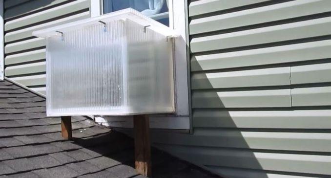 DIY Window Box Solar Heater Also Doubles as a Solar Oven