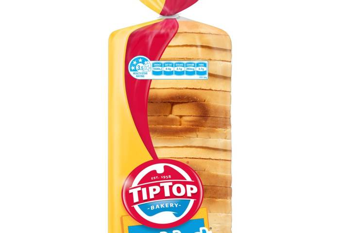 Tip Top Sunblest White Sandwich Bread 650g Woolworths