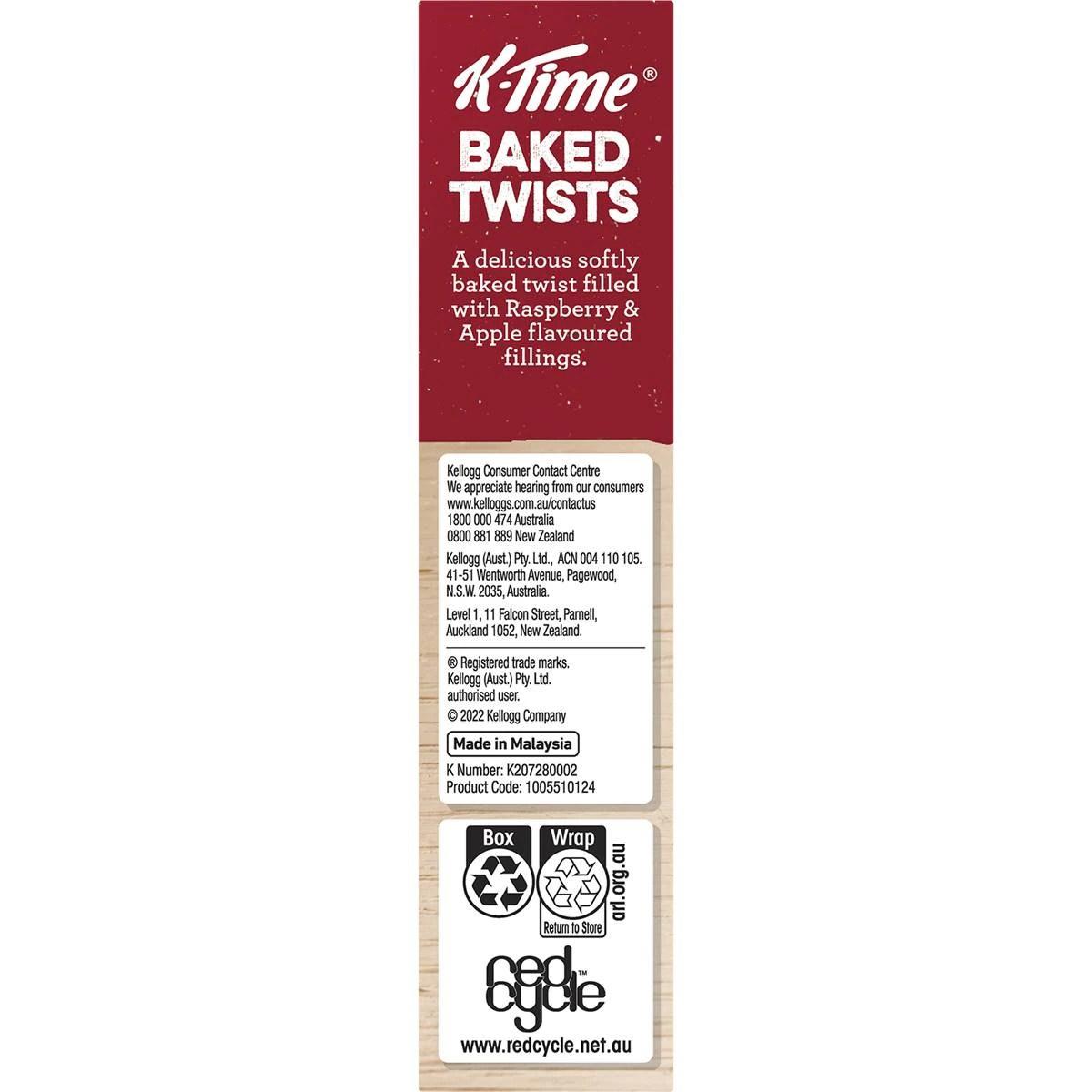 Kellogg S K Time Twist Raspberries Amp Apple 185gm