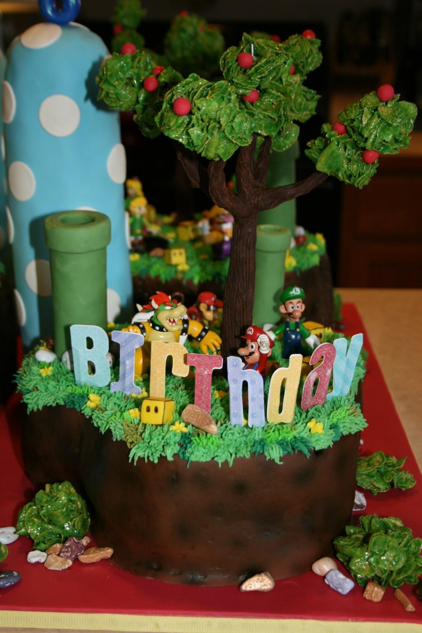 Super Smash Bros Cake Yoshi S Island Battle Scene