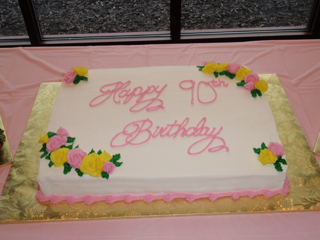 Happy 90th Birthday Cakecentral Com