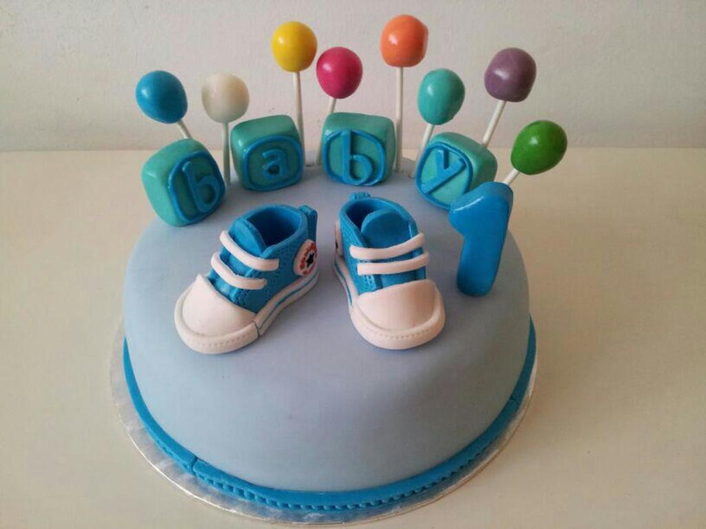 Birthday Cake For A 1 Year Old Baby Boy Cakecentral Com