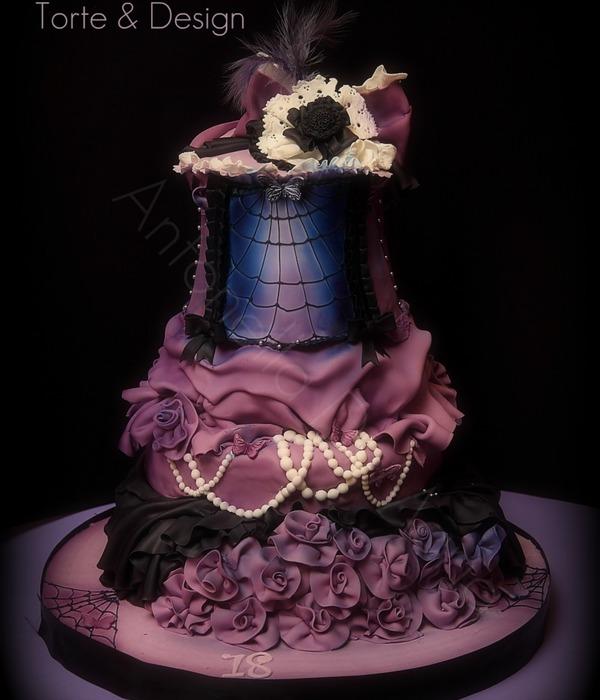 Gothic Skull Birthday Cakes