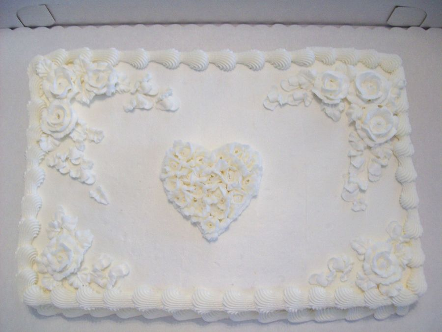 Romance Wedding Sheet Cake
