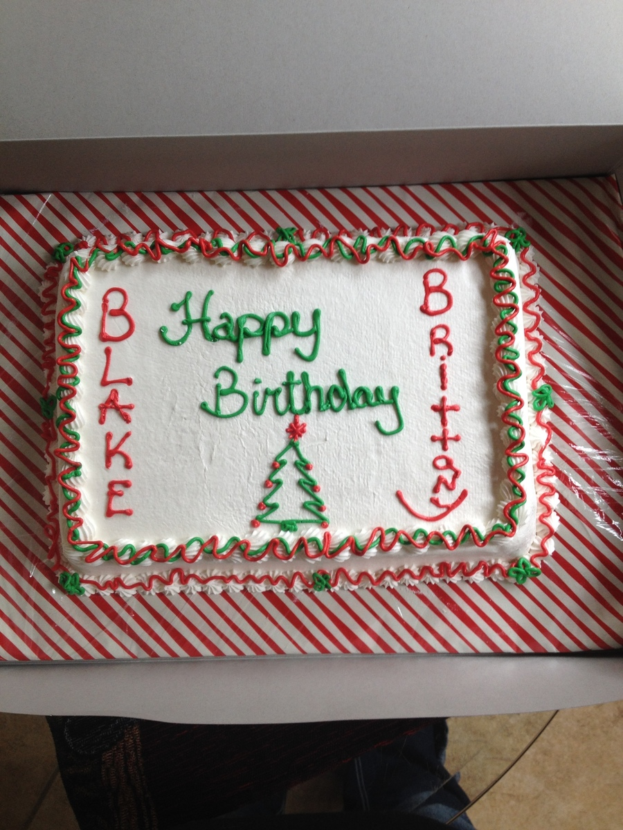 Happy Birthday Christmas Cake Cakecentral Com