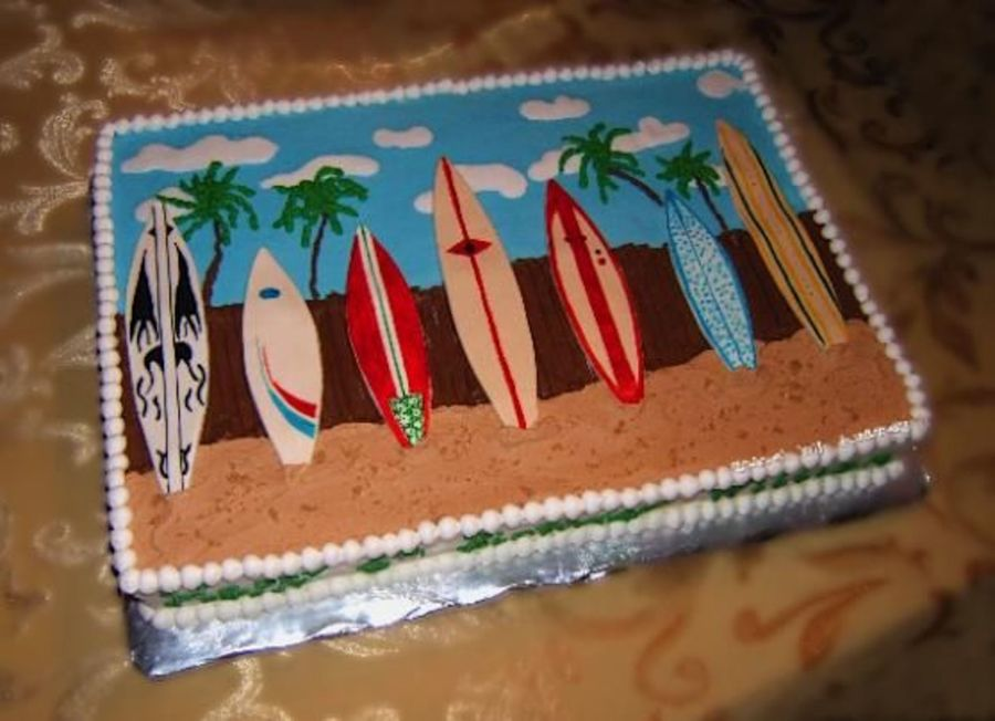 Surfboard Cake Cakecentral Com