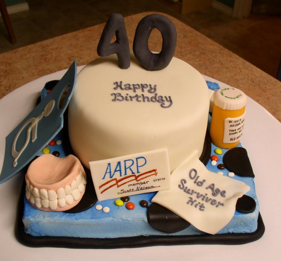 40th Over The Hill Cake Cakecentral Com