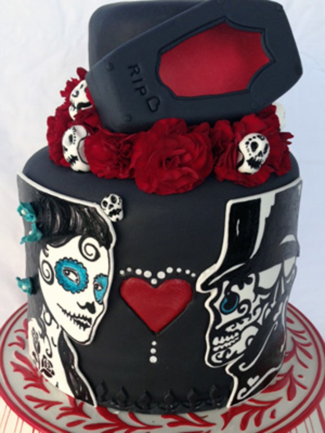 Images Of Day The Dead Wedding Cakes - The Best Cake Of 2018