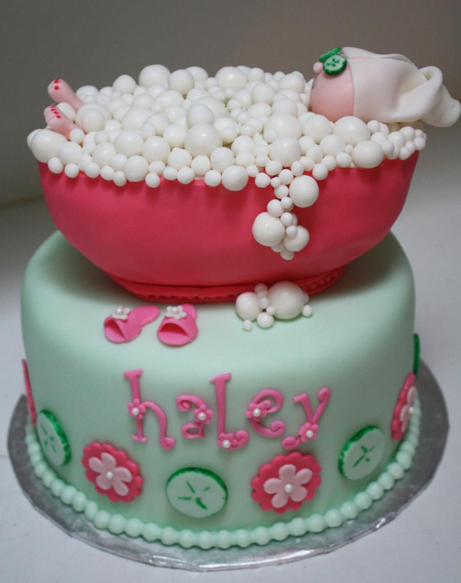 Spa Party Bubble Bath Cake