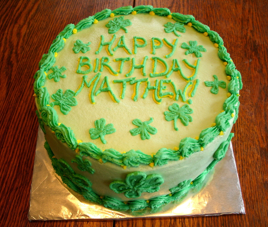 St Patrick S Day Birthday Cake Cakecentral Com