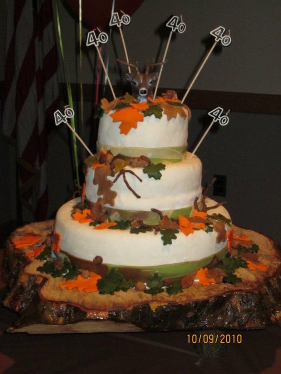 Deer Hunters 40Th Birthday Cake